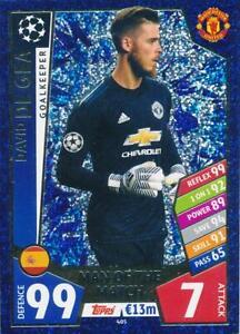 Match Attax Ligue des Champions 17//18-146-DAVID DE GEA-Manchester United
