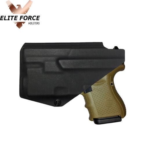 RIGHT HAND Black Kydex Holster For Glock 26 GEN 1-5 VIRIDIAN R5 Laser