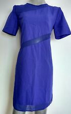 ASOS tunic dress, size 8, blue, short sleeve back zip royal blue--BRAND NEW--
