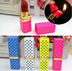 Colorful-Portable-Butane-Flame-Gas-Point-Lipstick-Shape-Model-Cigarette-Lighter