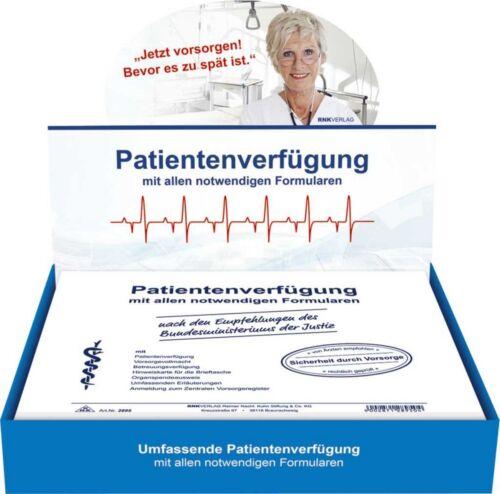 Patientenverfügung Vorsorgevollmacht Patiententestament RNK 2895