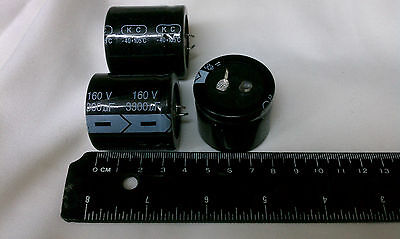 1 PC 3300UF 3300mfd 160V Electrolytic Capacitor 105 degrees USA FREE SHIPPING