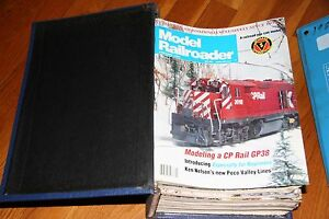 MODEL-RAILROADER-MAGAZINE-FULL-YEAR-1991-IN-BINDER-ALL-ISSUES-IN-GOOD-SHAPE