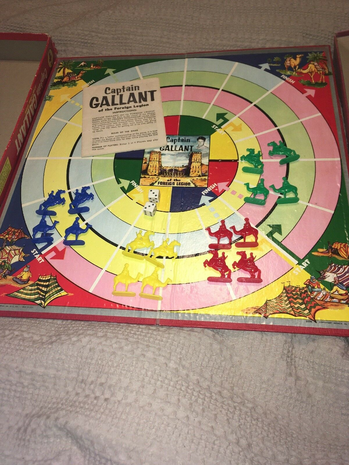 Vintage OF 1955 TRANSOGRAM CAPTAIN GALLANT OF Vintage THE FOREIGN LEGION BOARD GAME Nice 6b0e3d