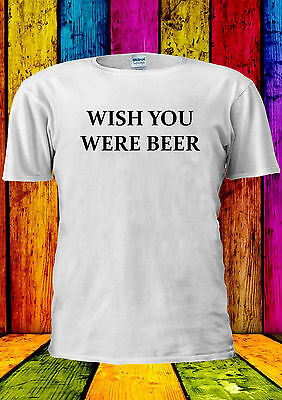 Wish You Were Beer Funny Here Urban T-shirt Vest Tank Top Men Women Unisex 1922