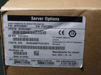 Lenovo ThinkServer 2U x8//x8//x8 PCIe Riser Kit 4xF0G45881 RD650