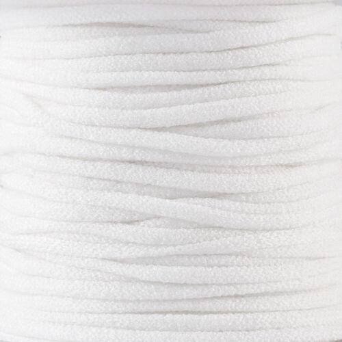 1 Roll 2.5~3mm Round White Fibre Spandex Elastic Cords Threads Spool 20m//roll