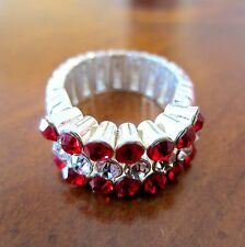 new! RED CRYSTAL STRETCH RING University of Oklahoma Sooners OU game day jewelry