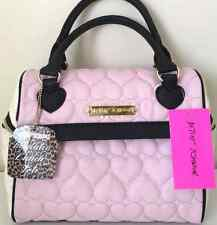 Betsey Johnson Lunch Tote Bag Speedy Pink Black Be Mine Insulated Bag Hearts