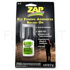 ZAP-A-GAP Brush-On Super Glue Medium CA+ Fly Tying Head Cement Fishing 1/4oz NEW