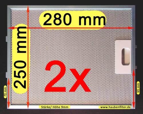 Metall-Fettfilter Filter Dunstabzugshaube 250*280 PKM UBH 3001