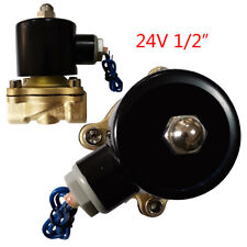 12 Npt Ac 24v Brass Electric Solenoid Valve For Water Air Gas Fuel Nc 265 F