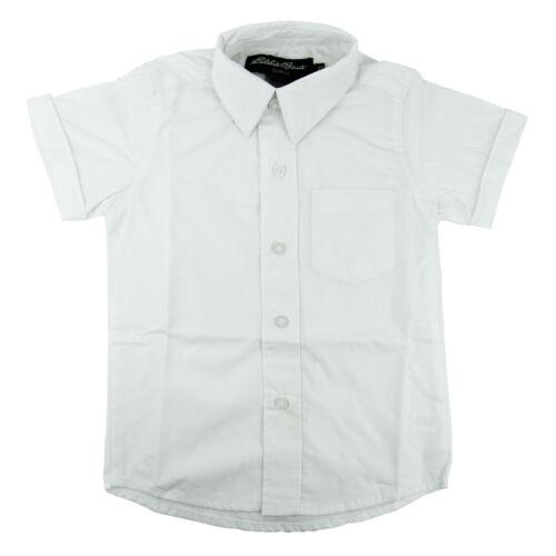 Toddler White Broadcloth Shirt Short Sleeve Eddie Bauer School Uniform 2T to 4T