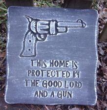 Gun plaque plastic mold mould plaster concrete casting