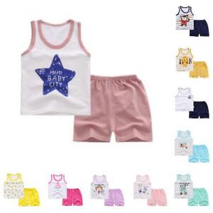 Cotton-Baby-Clothes-New-Summer-Stylish-Pattern-Casual-Sleeveless-Vest-Shorts-Set