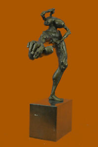 Collector-Numbered-Edition-Signed-Original-R-Cook-Bronze-Sculpture-Figure-Deal-G