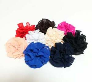 Solid-Chiffon-Sheer-Fabric-Hair-Ties-Elastic-Band-Scrunchies