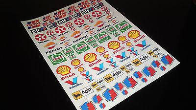 Rc car moto  sponsor decals stickers 1/10 1/8 motor oil logos glossy vinyl a4