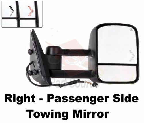CHEVY AVALANCHE 03 04 05 06 Power Heated Telescopic w//Signal Lamp Tow Mirror NEW