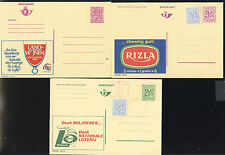 BELGIUM - 3 MINT POSTAL CARDS with ADVERTISING