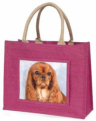 Rubin King Charles Spaniel Hund Große Rosa Einkaufstasche Weihnachten Geschenk,