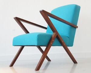 Designer Sessel Mid Century Lounge Chair Bauhaus Space Age Teak