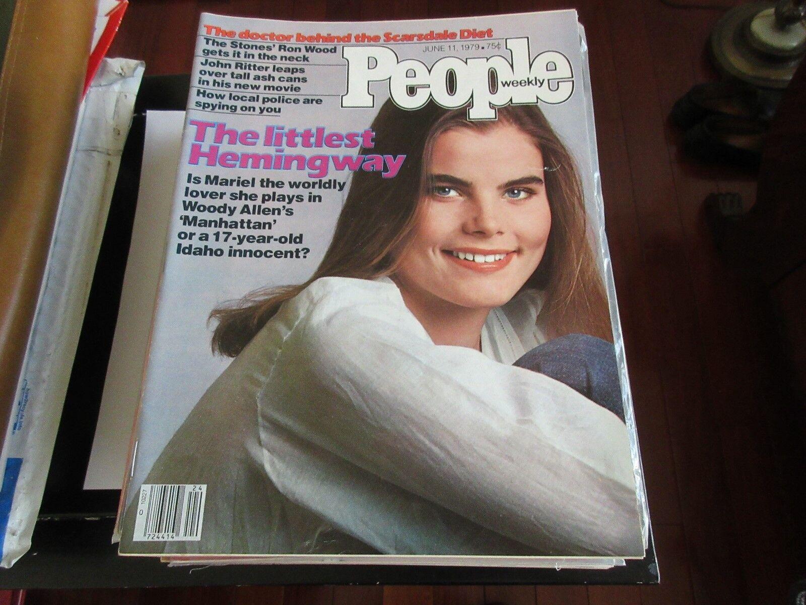 Mariel Hemingway , People Magazine , 6/11/79 , Ron Wood