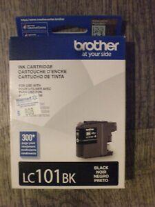 Genuine New Original Brother LC101BK Black Ink Cartridge Exp 03/2021