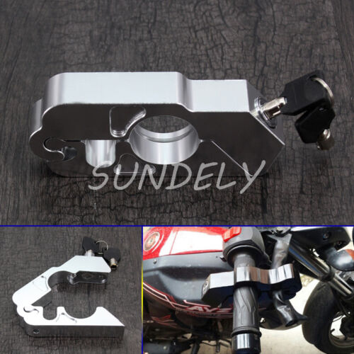 Motorcycle Handlebar Grip Brake Lever Lock Anit Theft Security Caps-Lock USA