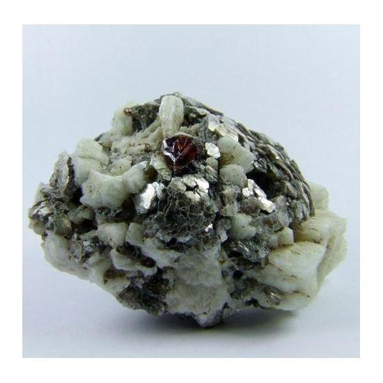 Spessartine Muscovite & Albite, Skardu Dist., Pakistan (163775) mineral crystal