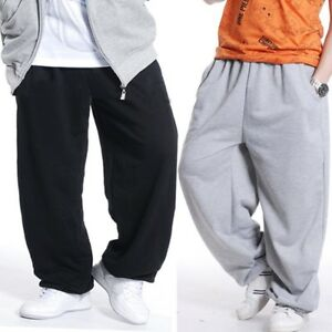 a5a7665594 Men Loose Fit Sweatpants Hip Hop Dance Pants Sports Jogger Baggy ...