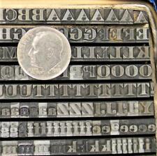 Vintage Metal Letterpress Print Type 1214pt Engravers Litho Bold Mn75 4