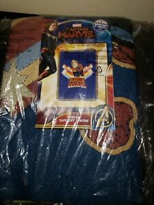 Captain-Marvel-Vintage-Victorious-Woven-Tapestry-Throw-Blanket-48-x-60-USA