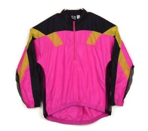 49f5958f38 Nike Echelon Vintage 90s Hot Pink Vented Nylon Windbreaker Cycling ...