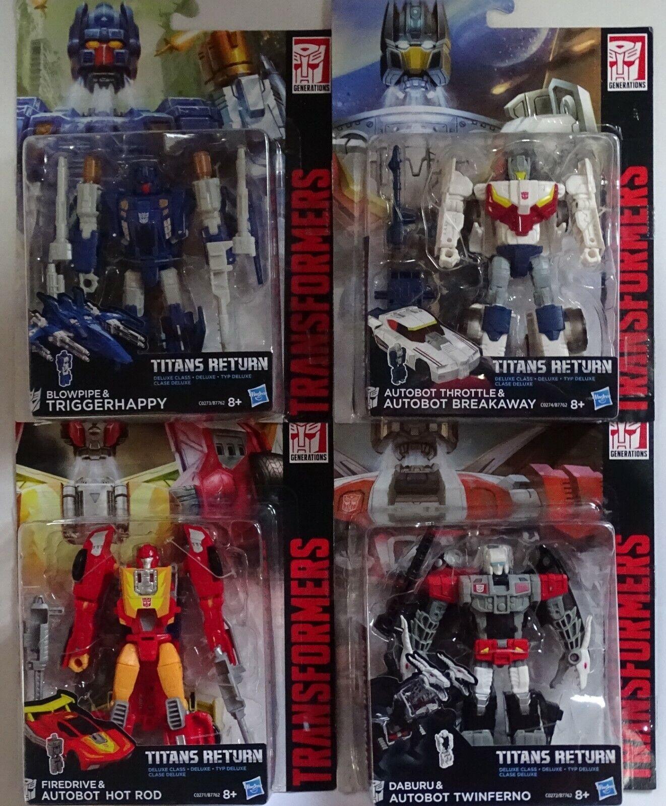 Hasbro ® Transformers generations titany return Deluxe Class 4 figuras de colección