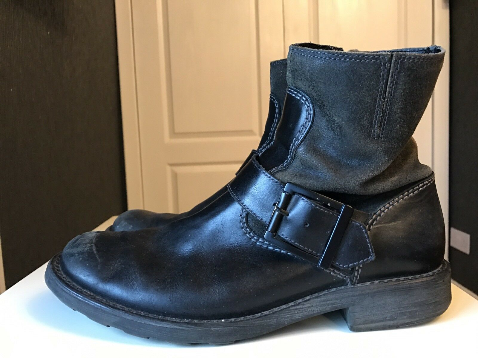 Kenneth Cole Reaction Uomo stivaletto Man Gent in pelle stivaletto Uomo scarpa di marca misura 8.5 eee613