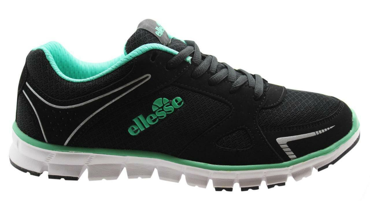 New Authentic Women's Women's Women's Ellesse Trainers Running Gym Boxed Black Green UK 4.5 6.5 77f118