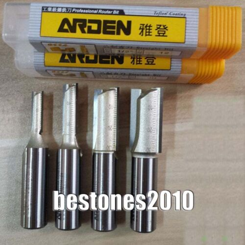 ARDEN Double Flute Metric Straight Router Bits Shank 1//2 Dia 29mm H 30mm Bits