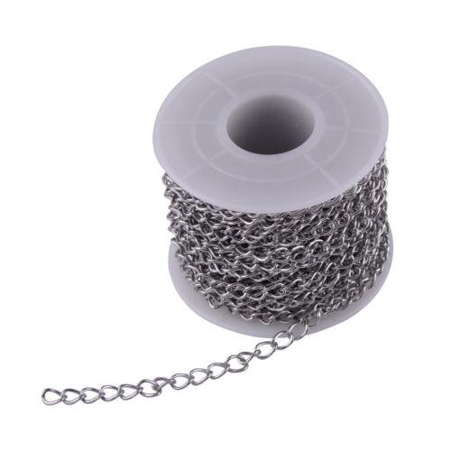 10M Rolle Edelstahl Kette Panzerketten für Halskette Schmuck Stainless Chain DIY