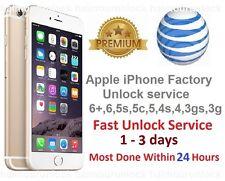 AT&T APPLE FACTORY UNLOCK IMEI SERVICE  iPHONE 6+ + PLUS 6 6s 5c 5s 5 4s 4 S ATT