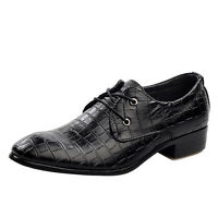 Designer Mens Pointed Shoe Smart Crocodile Leather Italian Oxfords Dress Casual