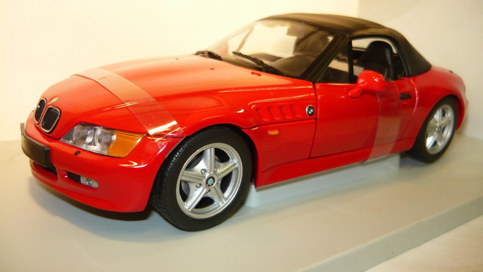 UT MODELS 20408 BMW z3 Roadster 1.9 Soft Top rouge neu&ovp 1 18