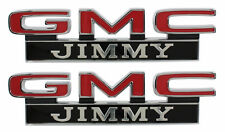 1971-1972 GMC Pick Up Truck Front Fender Emblem Jimmy Pair