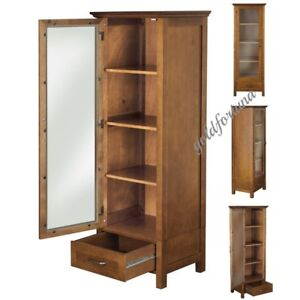 Image Is Loading Floor Curio Cabinet Display Storage Case Drawer Glass