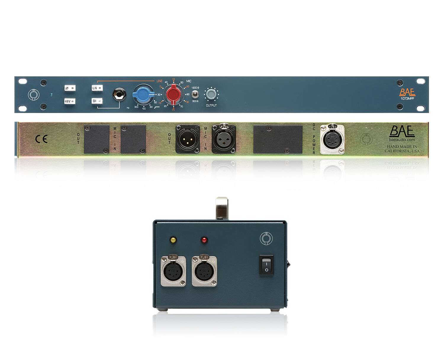 BAE Audio 1073MP Dual Microphone Preamp with Power Supply   Pro Audio LA