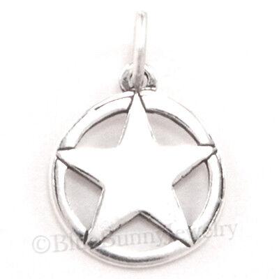 925 Sterling Silver Texas Lone Star Charm