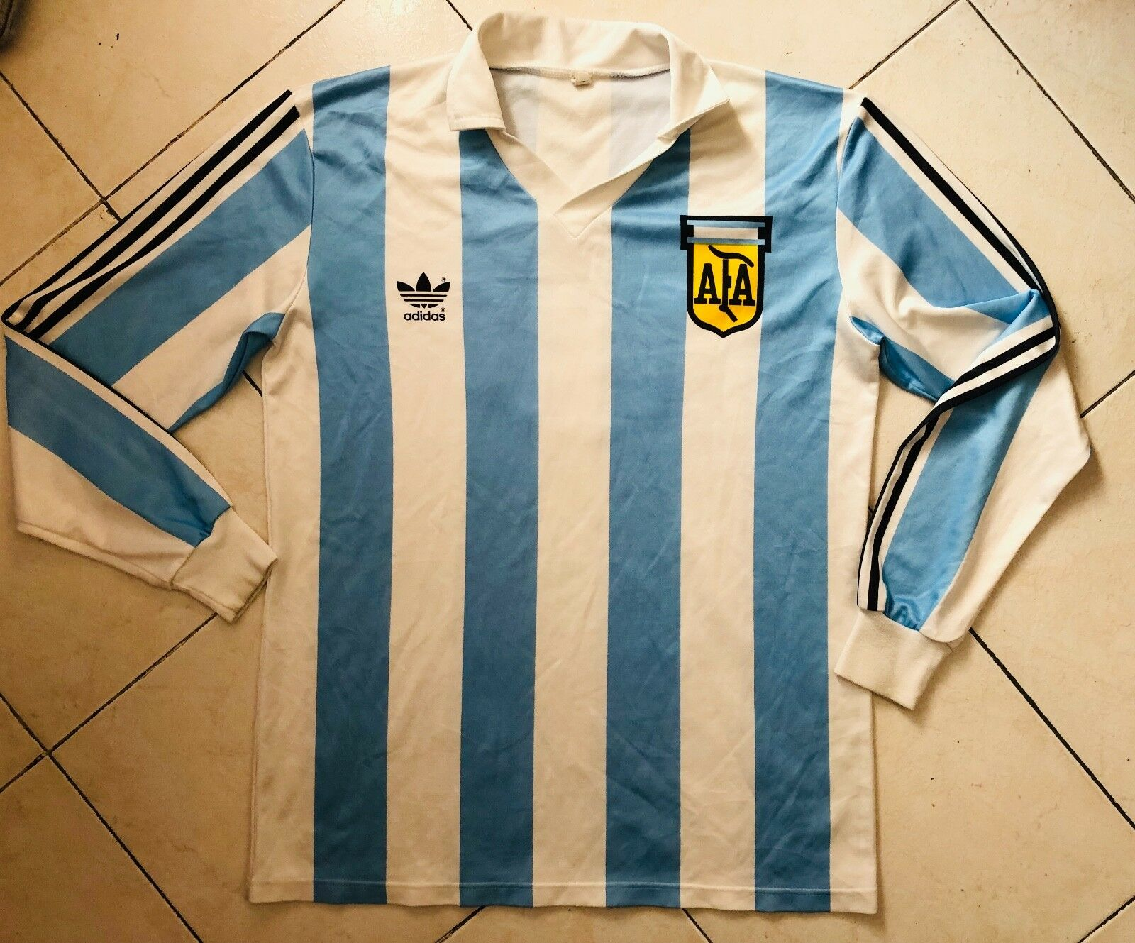 MAGLIA SHIRT CALCIO FOOTBALL plataINA WC 90 MARADONA ADIDAS