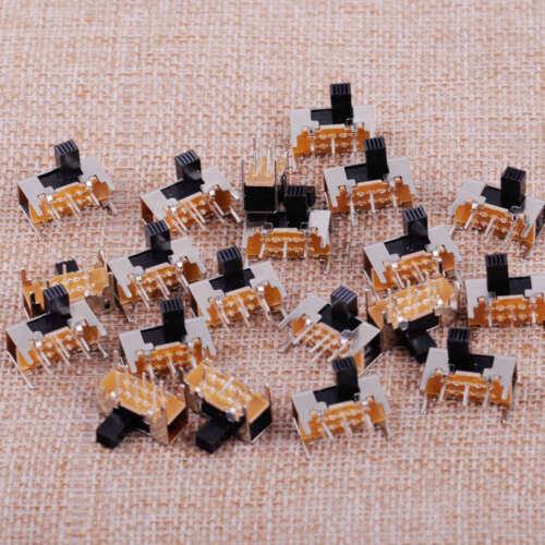 100X SK22H03G6 Mini Schiebeschalter DPDT 6 Pin 2 Position 6mm Knob Slide Switch