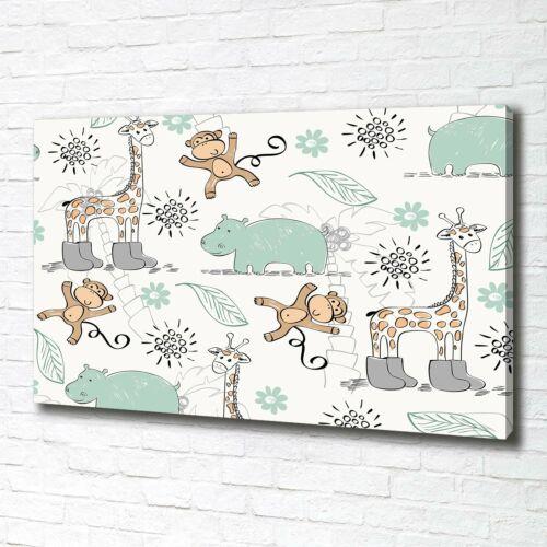 Leinwandbild Kunst-Druck 100x70 Bilder Kinderzimmer Tiere