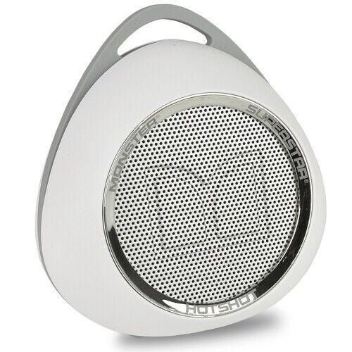 Monster Superstar Hotshot Portable Bluetooth Speaker White/chrome ...